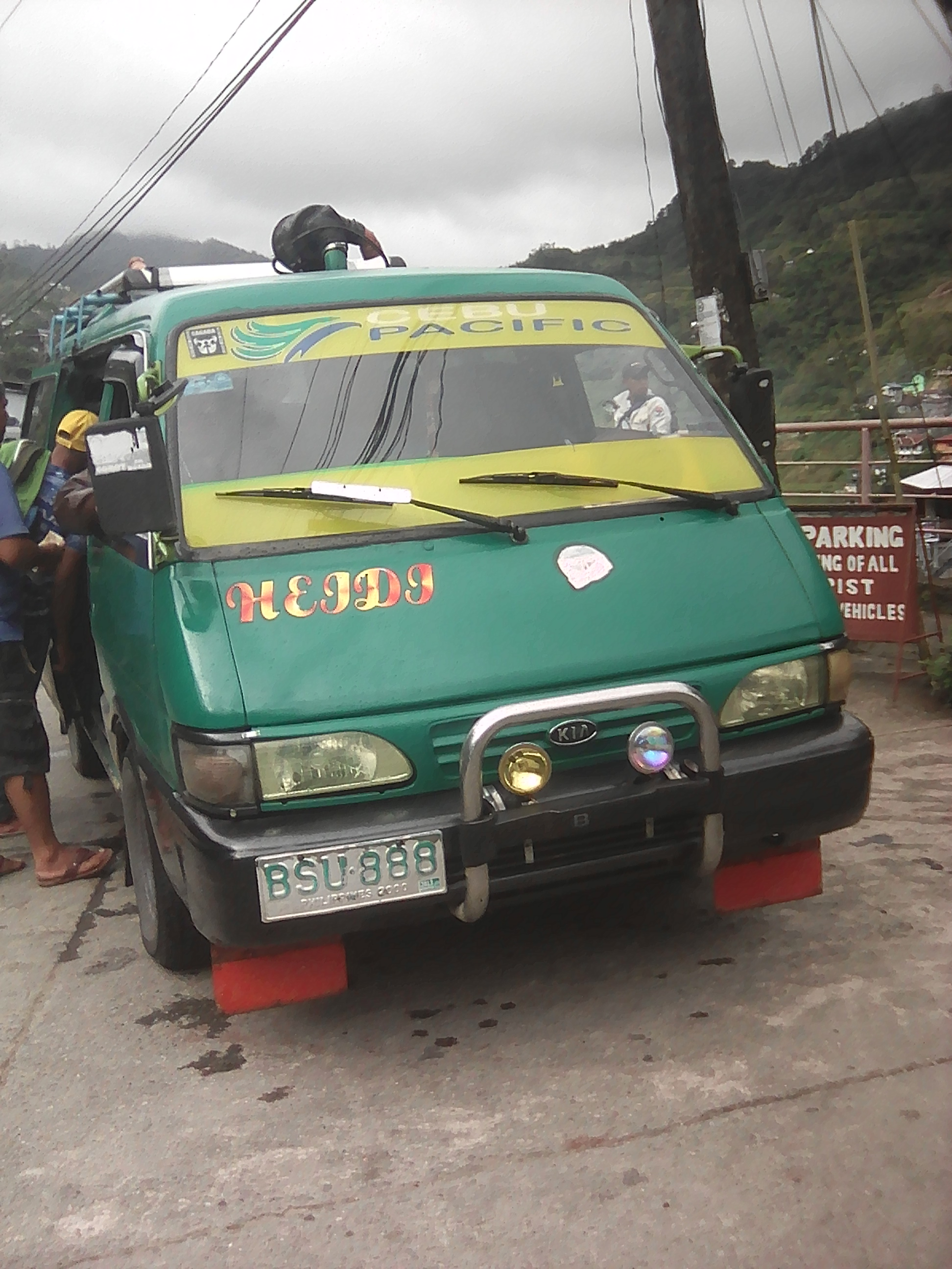 Arrival with van in Banaue.