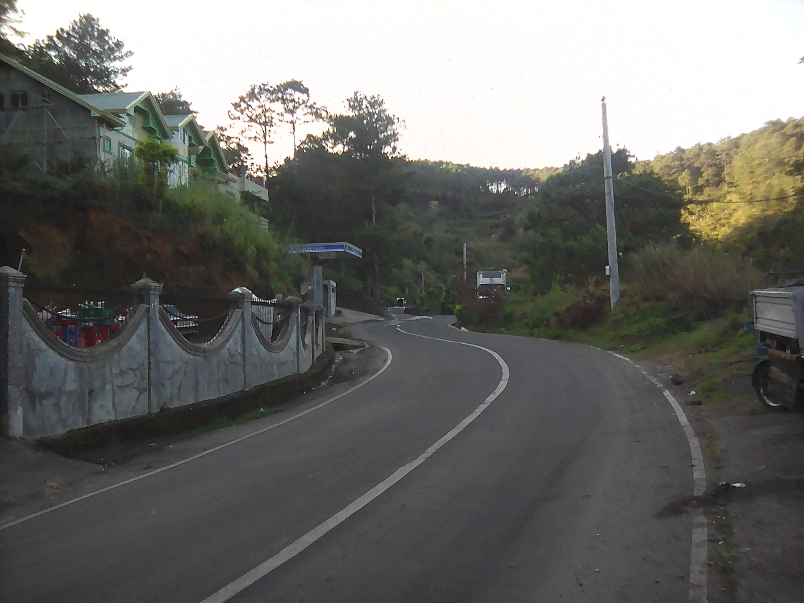Bauko to Bontoc road.